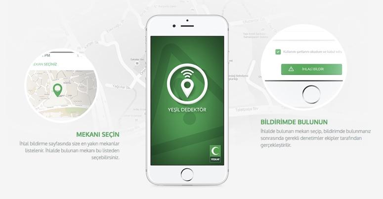 Havayı koruyan uygulama: Yeşil Dedektör