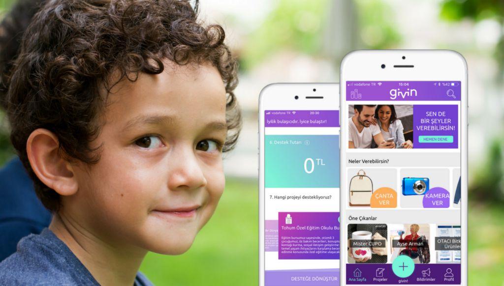 Givin mobil uygulaması, ilk yılında 500 bin TL bağış potansiyeli yarattı