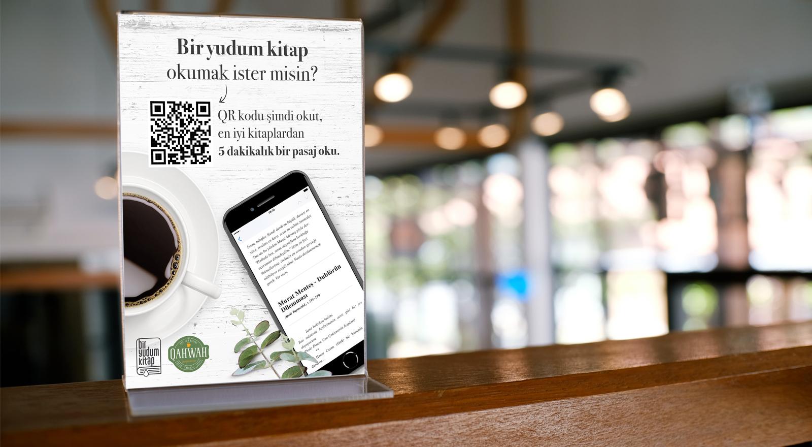 Biryudumkitap, QR kodlarla kitap pasajlarını işletmelere taşıyor