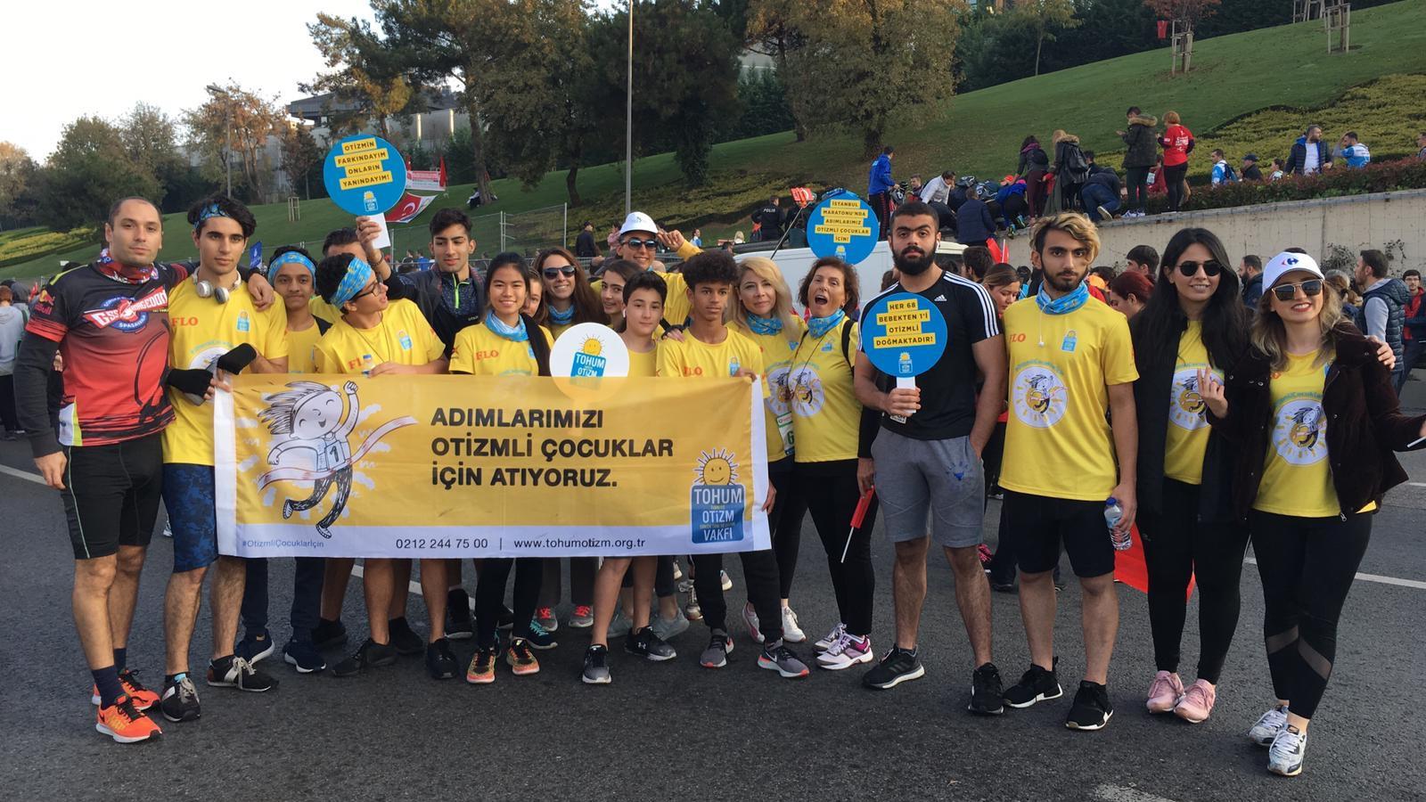 İstanbul Maratonu'nda Otizmli Çocuklara Büyük Destek