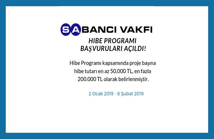 Sabancı Vakfı 2019 Hibe Programı başvurularında son hafta