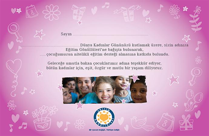 TEGV'den alacağınız Dünya Kadınlar Günü sertifikası ile eğitime destek olun