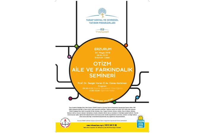 Eğitime Uzanan Yol projesi kapsamında Tohum Otizm Vakfı Erzurum'da öğretmenlerle ve ailelerle bir araya gelecek