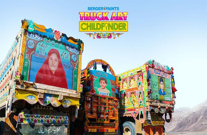 Pakistan'daki kayıp çocuklar için kamyon sanatı