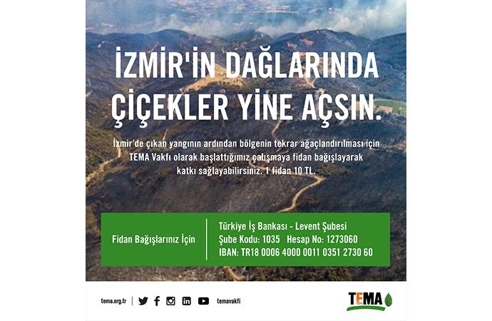 TEMA Vakfı İzmir için fidan bağışlarınızı bekliyor