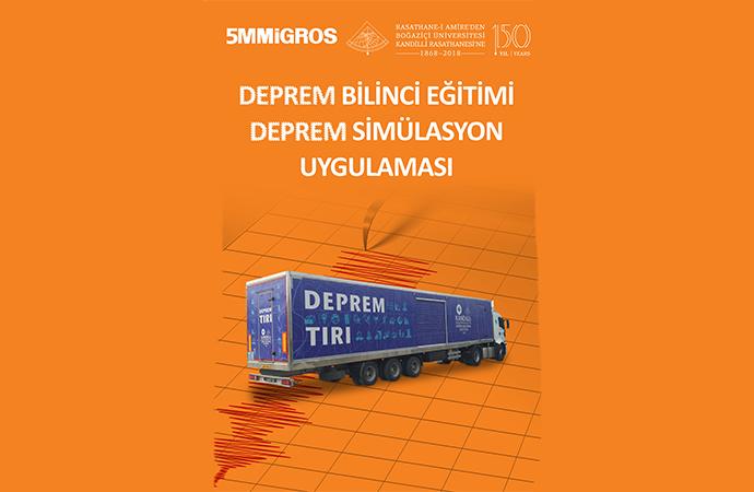 Deprem simülasyon eğitimleri devam ediyor