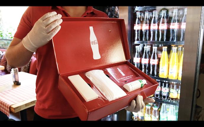 Coca-Cola'dan kafe ve restoranlara hijyen kiti desteği