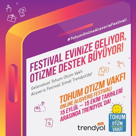 Tohum Otizm Vakfı Alışveriş Festivali Trendyol'da başladı