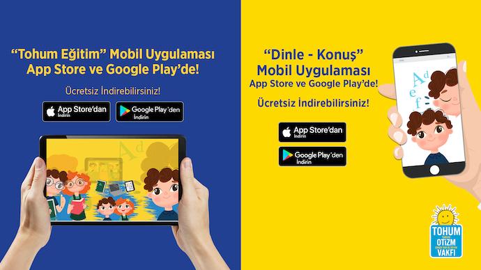 Tohum Otizm Vakfı yeni mobil uygulamalarıyla zengin içerikler sunuyor