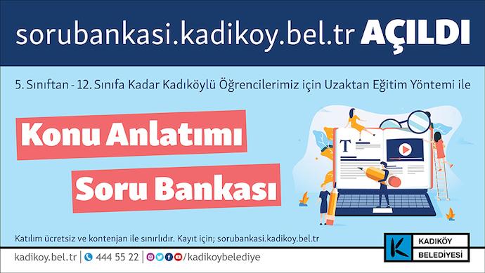 Kadıköy Belediyesi'nden uzaktan eğitime soru bankası desteği